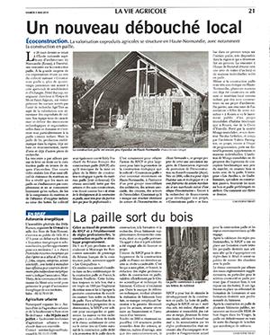 Construction paille, logements neufs Rouen, Paris Normandie