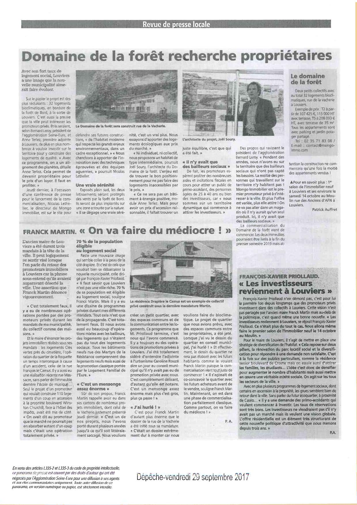 Construction écologiqus, logements neufs Louviers,